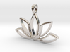 Lotus Charm Pendant Necklace 14k Gold 3d printed