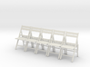 5 1:24 Wooden Folding Chairs 3d printed
