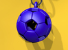 Soccer Ball Pendant 3d printed Blue Strong & Flexible Polished