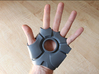 Iron Man Left Palm (Medium/Large) 3d printed Actual 3D Print using Strong & Flexible Plastic.  Sanded and primed.