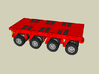 HO/1:87 spmt 4 axles (without ppu) 3d printed