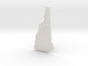 New Hampshire Christmas Ornament 3d printed