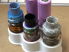 Dual 18650 Battery and Atomizer Stand 3d printed