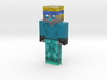 Blue Robot | Minecraft toy 3d printed