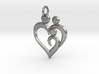 Family of 3 Heart Shaped Pendant 3d printed