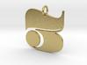 Numerical Digit Three Pendant 3d printed