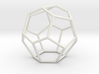 Fullerene with 15 faces 3d printed