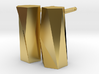 Scutoid Post Earrings - Mathematical Jewelry 3d printed