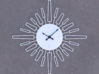 Sunburst Clock - Velma 3d printed Render of clock face with hands added