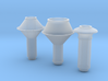 Smokestack assortment 2 O scale 1/48 3d printed