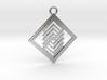 Geometrical pendant no.14 3d printed