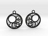 Geometrical earrings no.16 3d printed