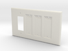 Philips Hue Triple Dimmer Plate Right 4 Gang 3d printed