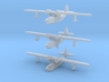 Sikorsky S-43/JRS-1 nine-piece set set 3d printed Flying, u/c down, waterline - there are THREE of each in this set