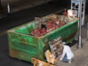Rolloff Dumpster in HO 3d printed Painting and weathering of O scale version by Mike Sannito