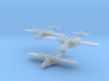 "Dornier Do X ""in flight"" Three Pack 3d printed Dornier Do X in 1/1250 scale by CLASSIC AIRSHIPS"