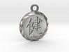 Kanji Health Pendant 3d printed Natural Silver Deep Engraved Kanji Health Pendant