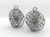 3D Sri Yantra Earrings 3d printed