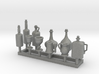 Medieval Style Tankards and Bottles 1/24 scale 3d printed