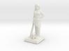 Pocahontas Warrior w/ Raccoon 28mm Scale Miniature 3d printed