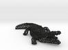 Wireframe crocodile 3d printed