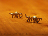"Hebrew Name Cufflinks - ""Yisrael Meir"" 3d printed"