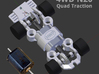 NEW! HWP-4WD Quad-Traction HO Slot Car Chassis 3d printed