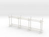 10' Straight Fence Frame, 3-Bay (2 ea.) 3d printed Part # CL-10-019