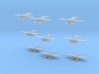 """Heinkel HE5 (S5A) set of 9 3d printed HE5 S5A """"Hansa""""  in 1:1250 scale by CLASSIC AIRSHIPS"""