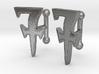 Monogrammed cufflink set 3d printed