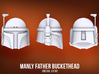 Manly Father Bucketheads (x7) 3d printed
