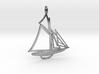 Sailboat pendant 3d printed