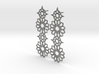 Mudejar Silver Earrings 3d printed