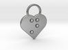 """n"" Braille Heart 3d printed"