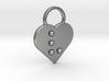 """v"" Braille Heart 3d printed"