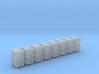 "1/144 Royal Navy 4.7"" Ready Use Lockers (Med) x8 3d printed 1/144 Royal Navy 4.7"" Ready Use Lockers (Med) x8"
