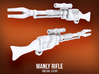 Manly Rifle (x4) 3d printed