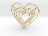 Small Wireframe Heart Pendant 3d printed