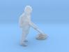 Sweeping Trash O scale Figure 3d printed