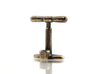 Bicycle Track Pump Cufflink 3d printed Polished  Bronze  Steel