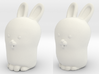 Glenda the Bunny 3d printed The following photos are from an earlier version, seen here on left.