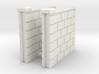 5' Block Wall - 2-Short Jointed Sections 3d printed Part # BWJ-007