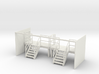 Factory Stairs in O - Wide - 2 sets 3d printed
