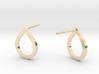 Tear Drop Post Earrings 3d printed