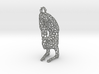 yoga jewelry - pendant earring - Vrischikasana 3d printed
