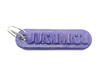 JUANMARI Personalized keychain embossed letters 3d printed