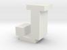 """J"" inch size NES style pixel art font block 3d printed"