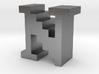 """N"" inch size NES style pixel art font block 3d printed"