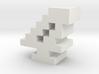 """4"" inch size NES style pixel art font block 3d printed"