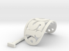 ROSI Personalized Oval Hair Stick Barrete 54x30mm 3d printed